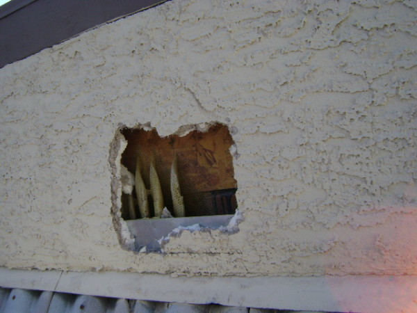 beehive in stucco
